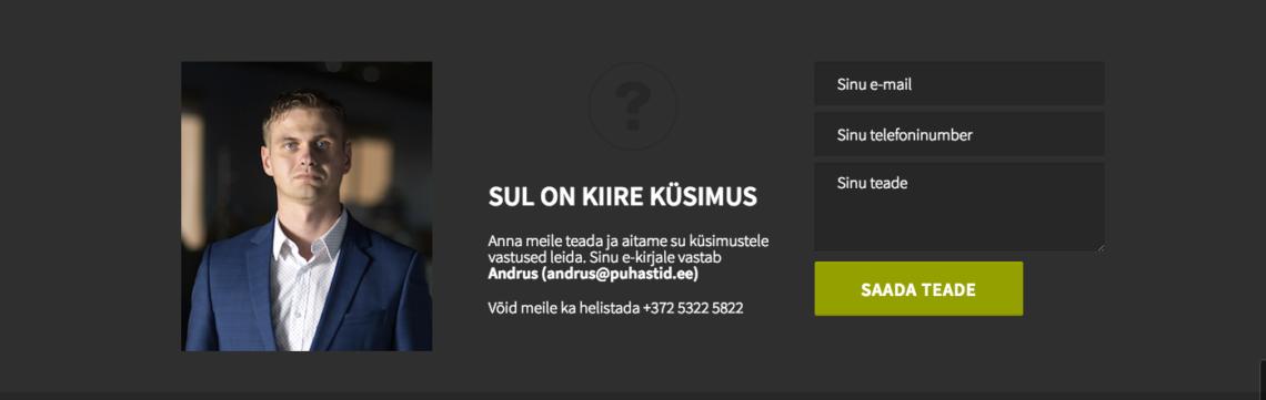 veebileht_puhastid_kontaktivorm