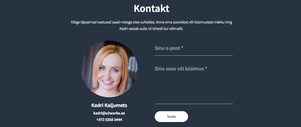 veebileht_sisujadisain_kontaktivorm