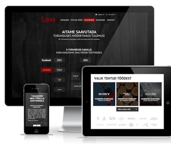 digiagentuur lavii responsive veebileht