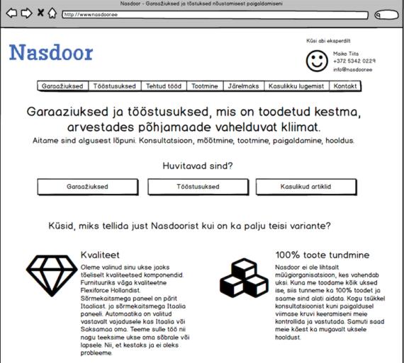 internetiturundus veebilehe struktuur Timo Porval +372 5903 1467 Timo@lavii.ee